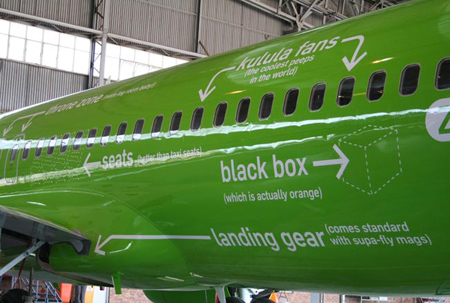 Airline Covers Plane With A Host Of Amusing Information